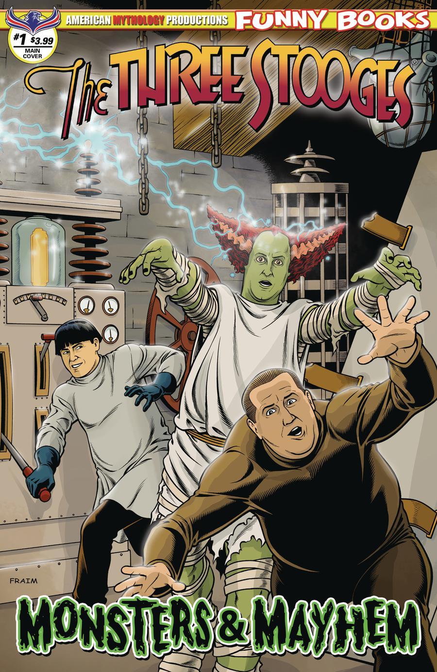 Three Stooges Monsters & Mayhem #1 Cover A Regular Brendon Fraim & Brian Fraim Cover