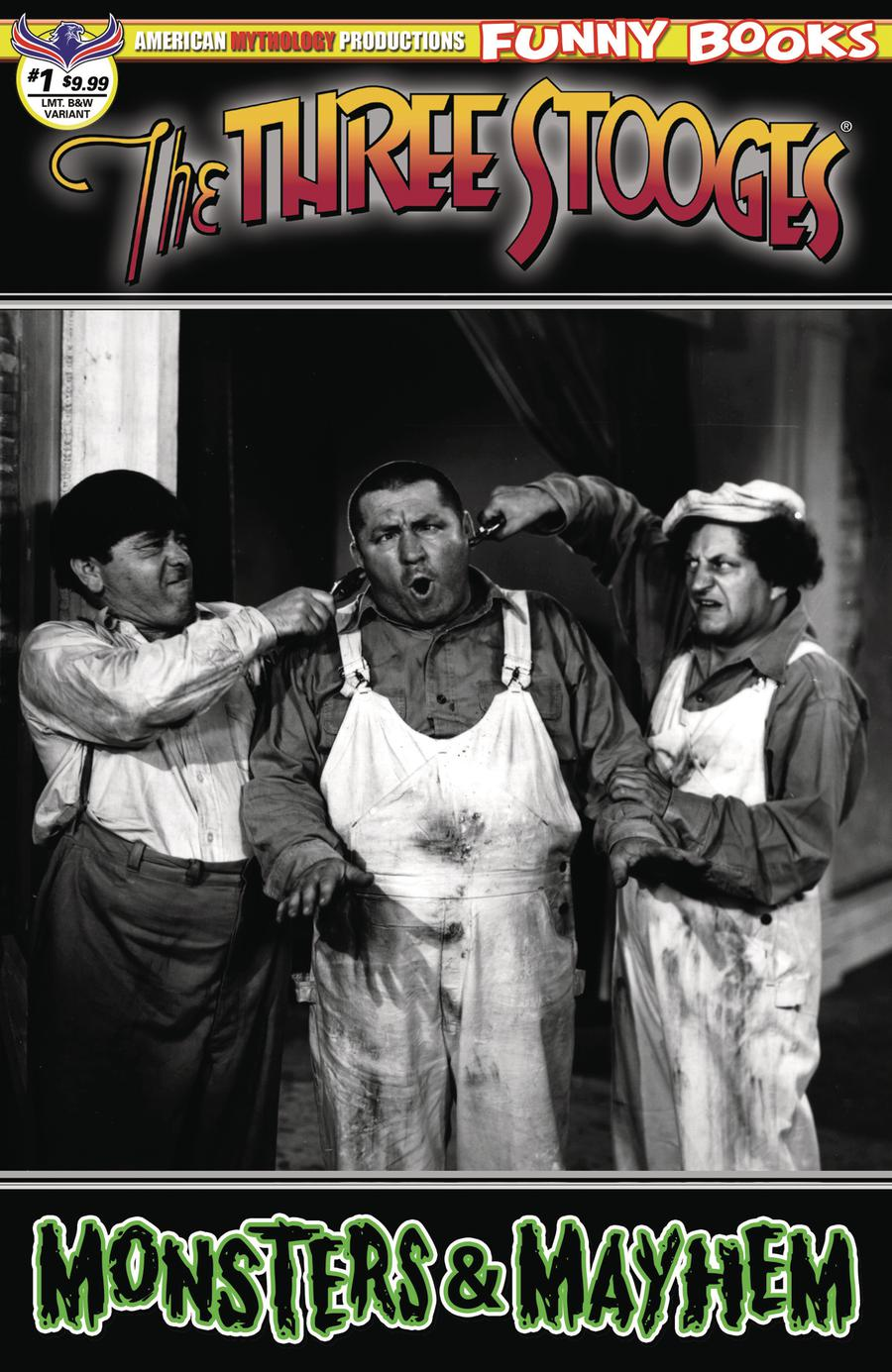 Three Stooges Monsters & Mayhem #1 Cover C Limited Edition Black & White Photo Cover