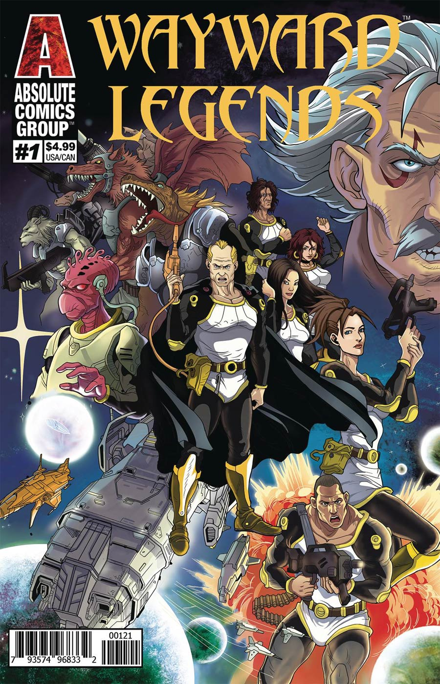 Wayward Legends #1 Cover B Variant Weilin Yang & Youjun Yang Holographic Gold Foil Cover