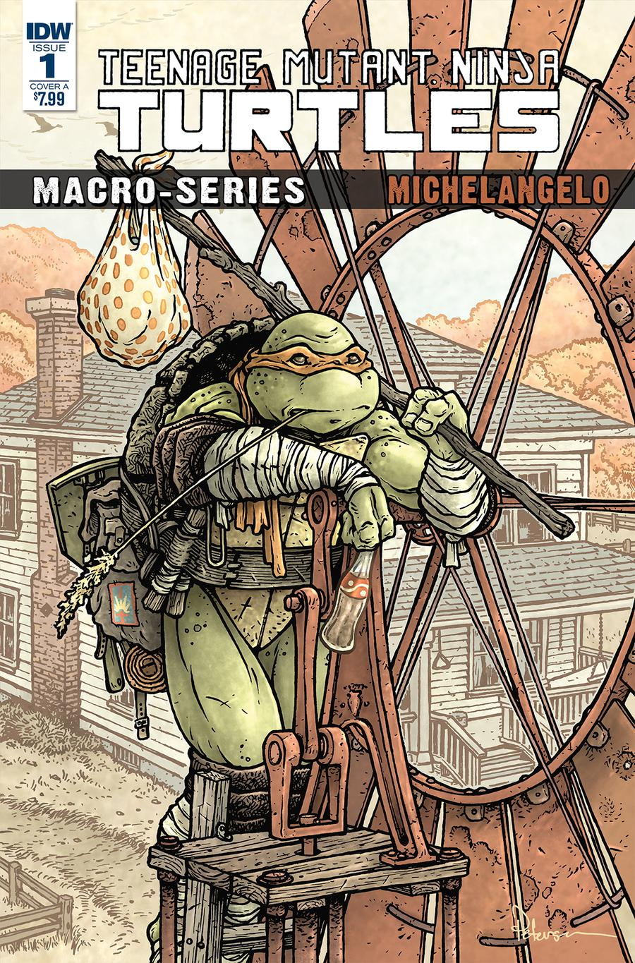Teenage Mutant Ninja Turtles Macro-Series Michelangelo Cover A Regular David Petersen Cover
