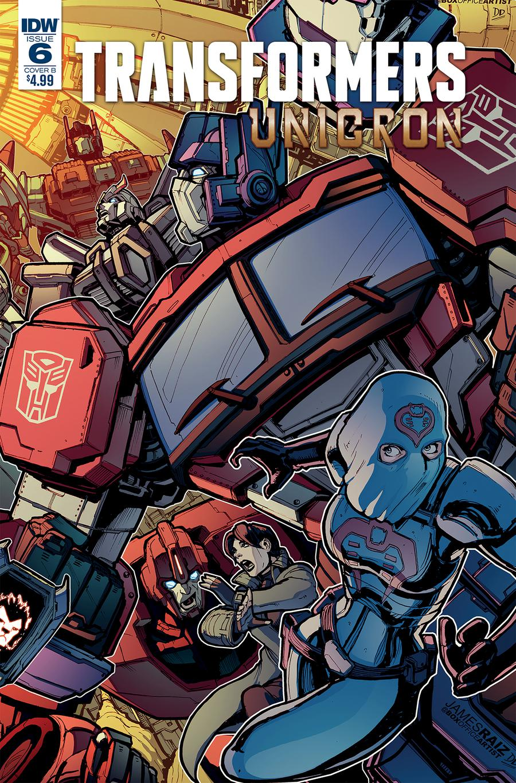 Transformers Unicron #6 Cover B Variant James Raiz Cover