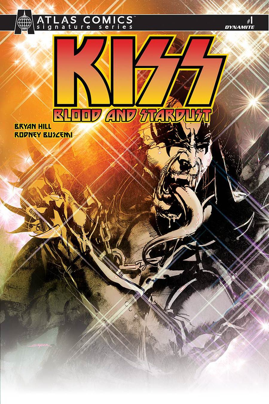 KISS Blood And Stardust #1 Cover M Atlas Comics Signature Series Signed By Bryan Hill