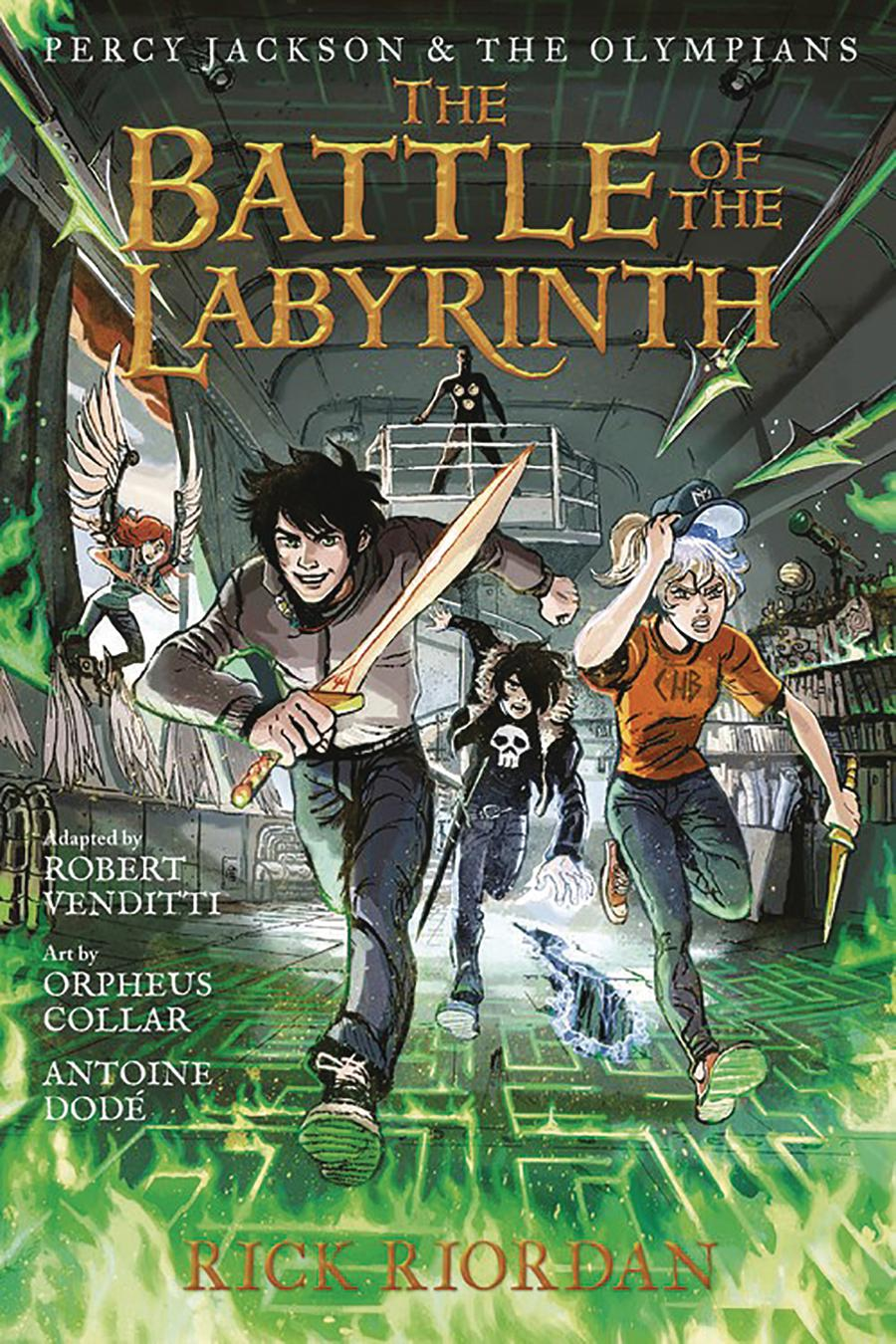 Percy Jackson And The Olympians Vol 4 Battle Of The Labyrinth TP