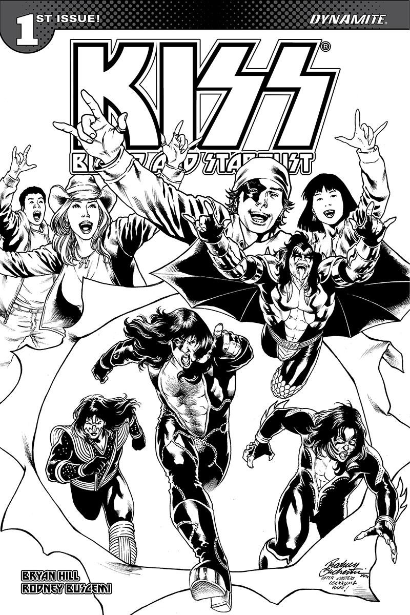 KISS Blood And Stardust #1 Cover H Incentive Rodney Buchemi Black & White Cover