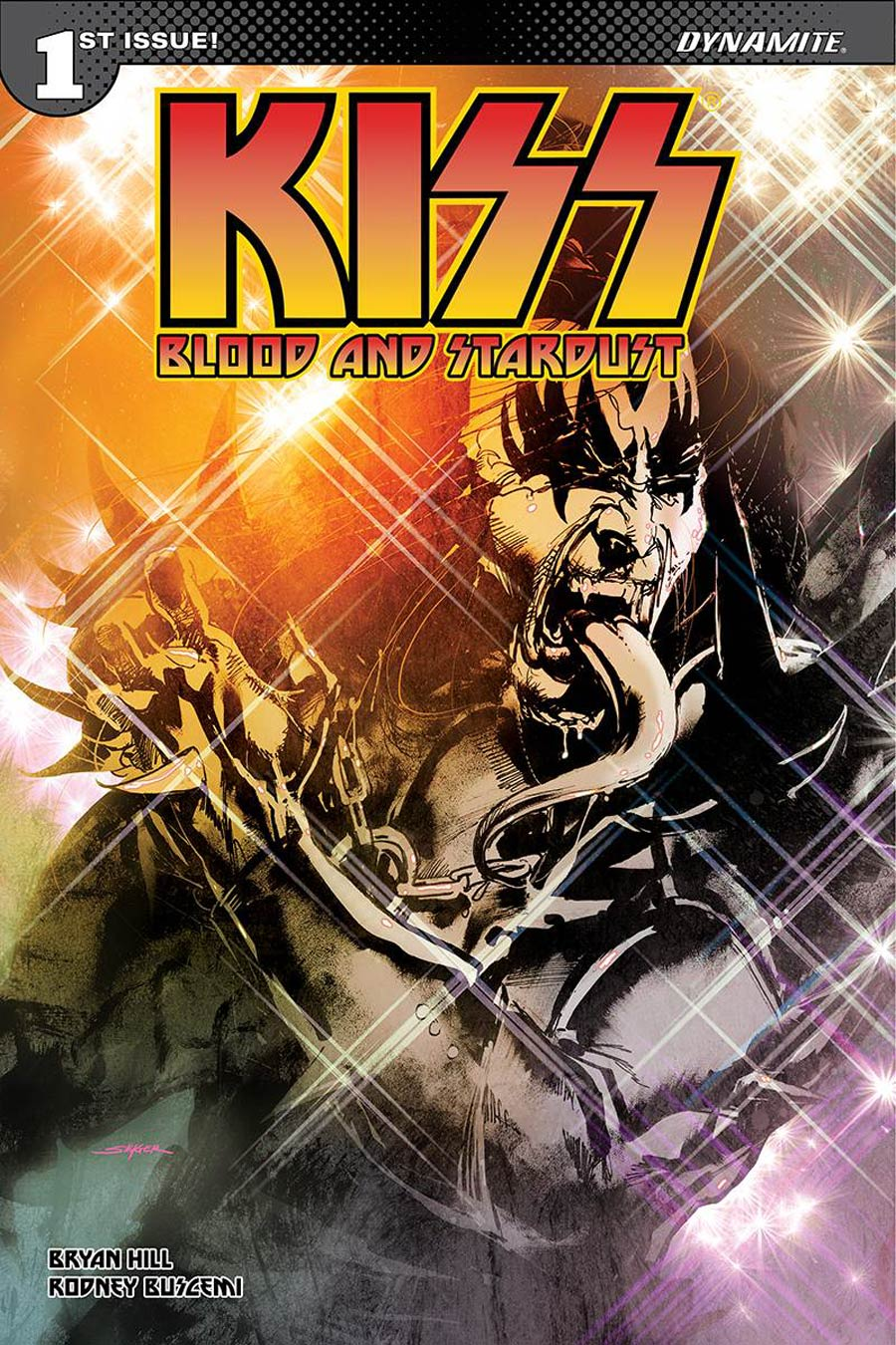 KISS Blood And Stardust #1 Cover L Incentive Stuart Sayger Demon Cover Signed By Gene Simmons