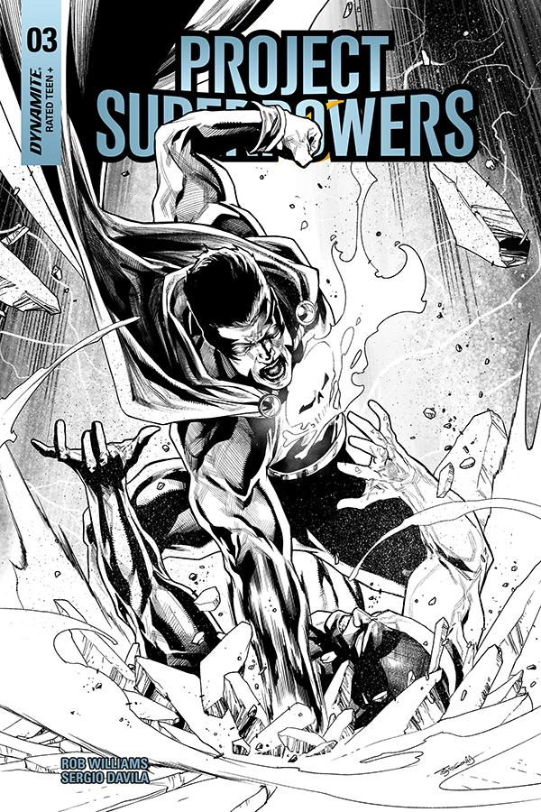 Project Superpowers Vol 3 #3 Cover I Incentive Stephen Segovia Black & White Cover