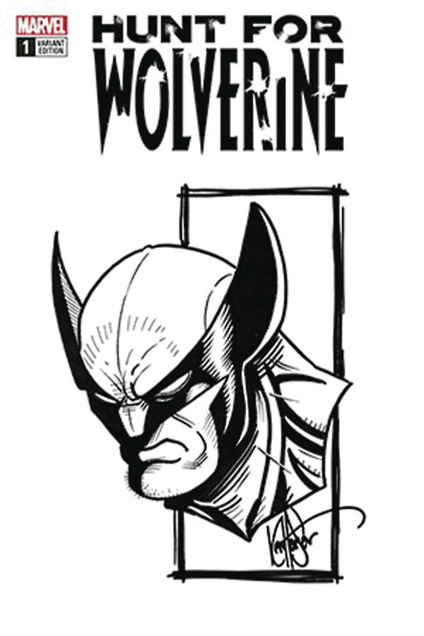 Hunt For Wolverine #1 Cover O DF Signed & Remarked By Ken Haeser