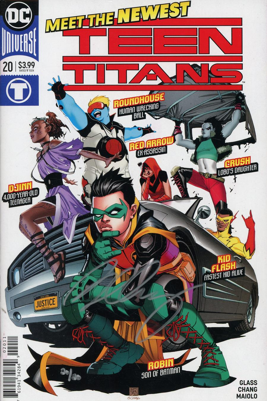 Teen Titans Vol 6 #20 Cover F DF Ultra-Limited Silver Signature Series Signed By Bernard Chang