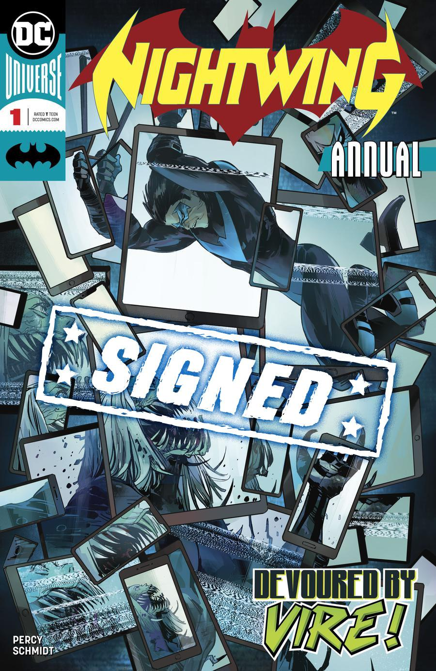 Nightwing Vol 4 Annual #1 Cover B Signed By Benjamin Percy