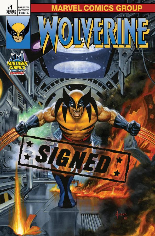 Return Of Wolverine #1  Midtown Exclusive Cover C Joe Jusko Variant Cover Signed By Charles Soule