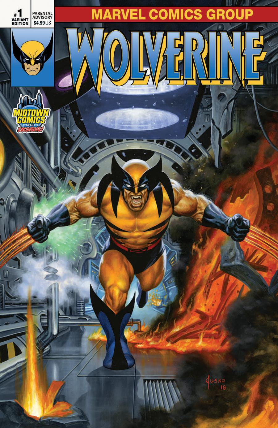 Return Of Wolverine #1  Midtown Exclusive Cover A Joe Jusko Variant Cover