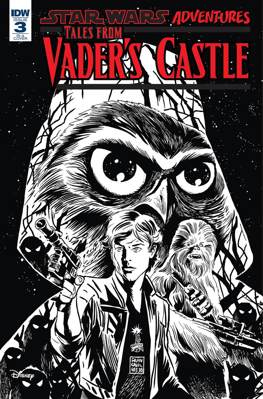 Star Wars Adventures Tales From Vaders Castle #3 Cover C Incentive Francesco Francavilla Sketch Cover