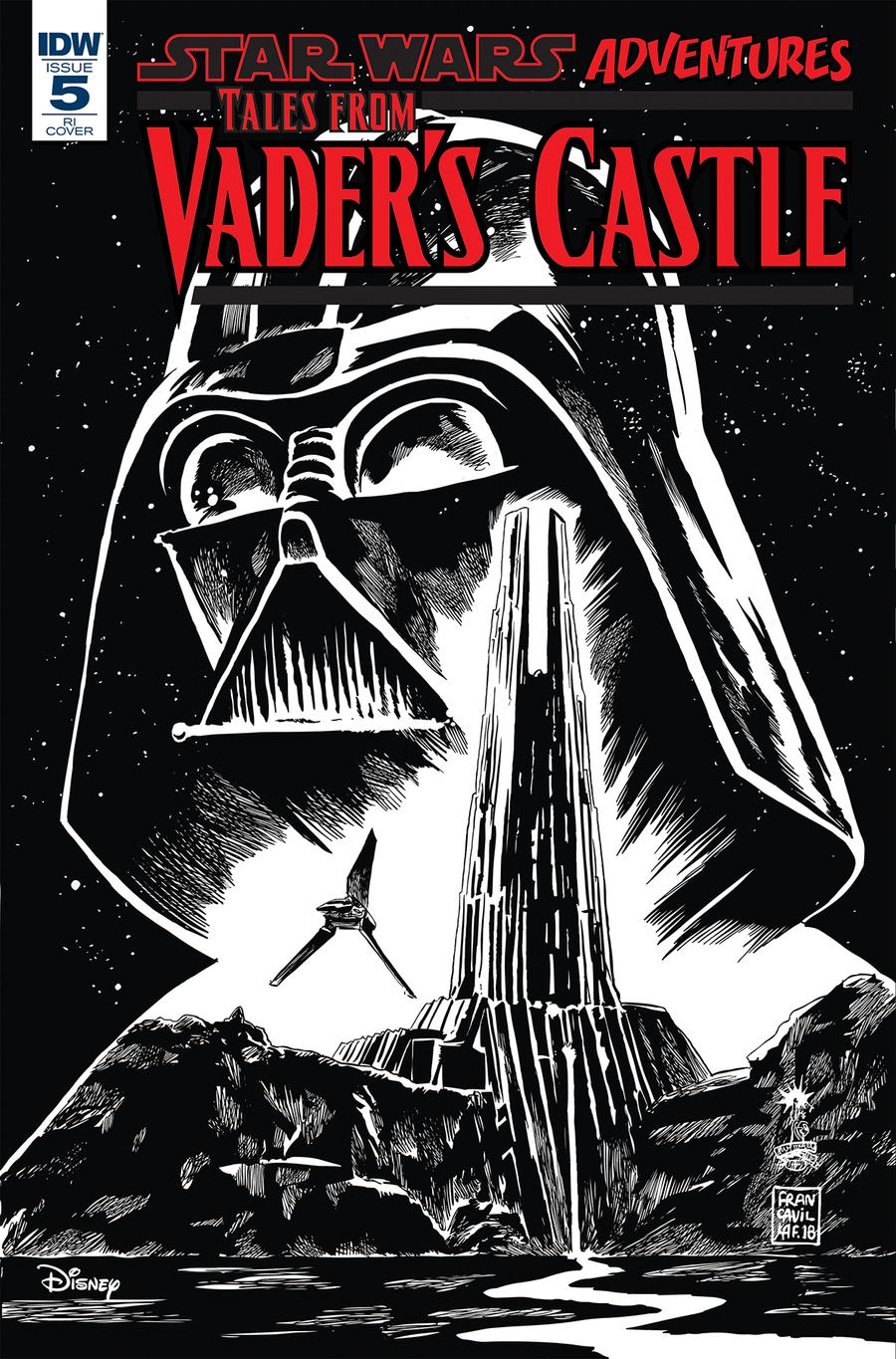 Star Wars Adventures Tales From Vaders Castle #5 Cover C Incentive Francisco Francavilla Sketch Cover