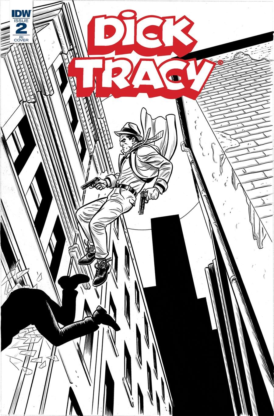 Dick Tracy Dead Or Alive #2 Cover C Incentive Michael Allred Coloring Book Variant Cover