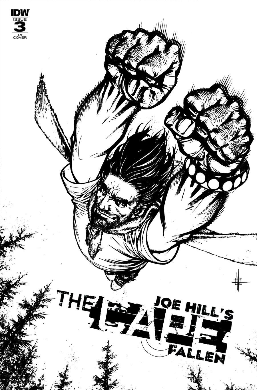 Joe Hills The Cape Fallen #3 Cover C Incentive Zach Howard Sketch Cover