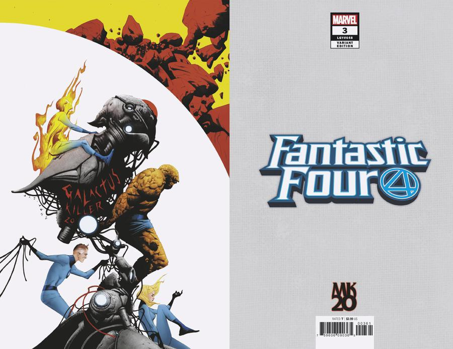 Fantastic Four Vol 6 #3 Cover F Incentive Jae Lee MKXX Virgin Cover