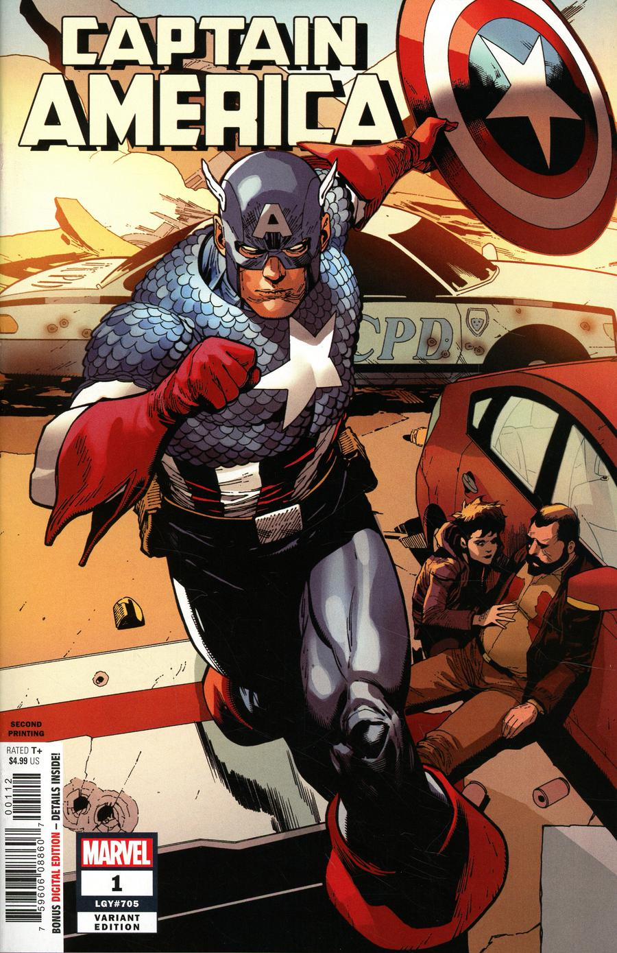 Captain America Vol 9 #1 Cover R 2nd Ptg Variant Leinil Francis Yu Cover