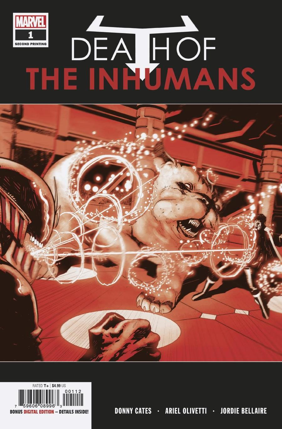 Death Of The Inhumans #1 Cover G 2nd Ptg Variant Ariel Olivetti Cover