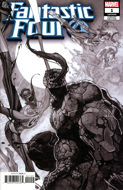 Fantastic Four Vol 6 #1 Cover Z-C Incentive Party Sketch Cover