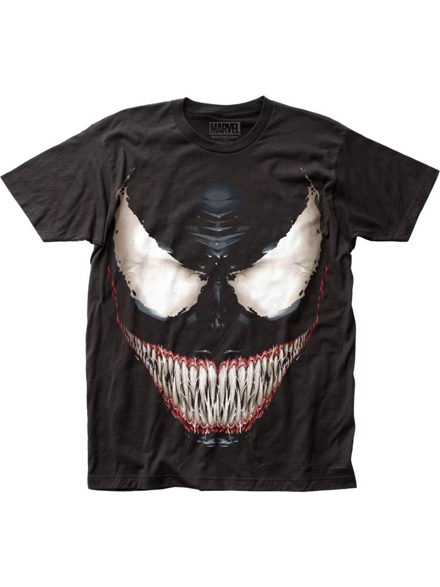 Venom Sinister Smile Fitted Jersey Black Mens T-Shirt Large