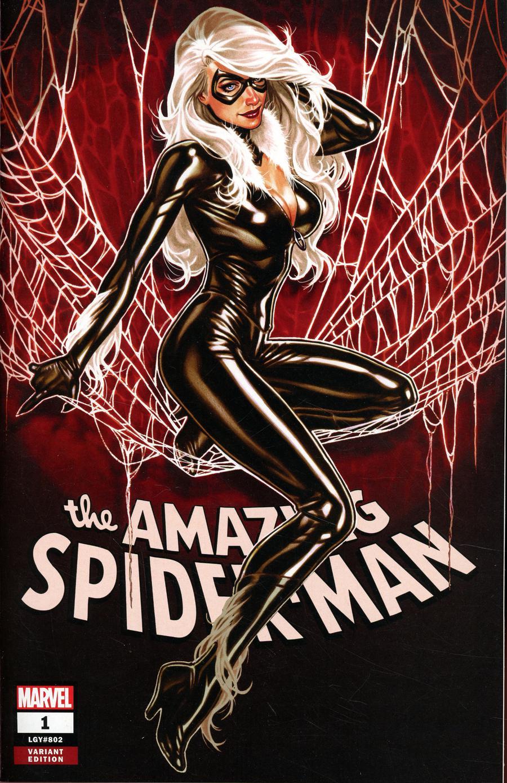 Amazing Spider-Man Vol 5 #1 Cover Q Comic Sketch Art Exclusive Mark Brooks Black Cat Variant Cover