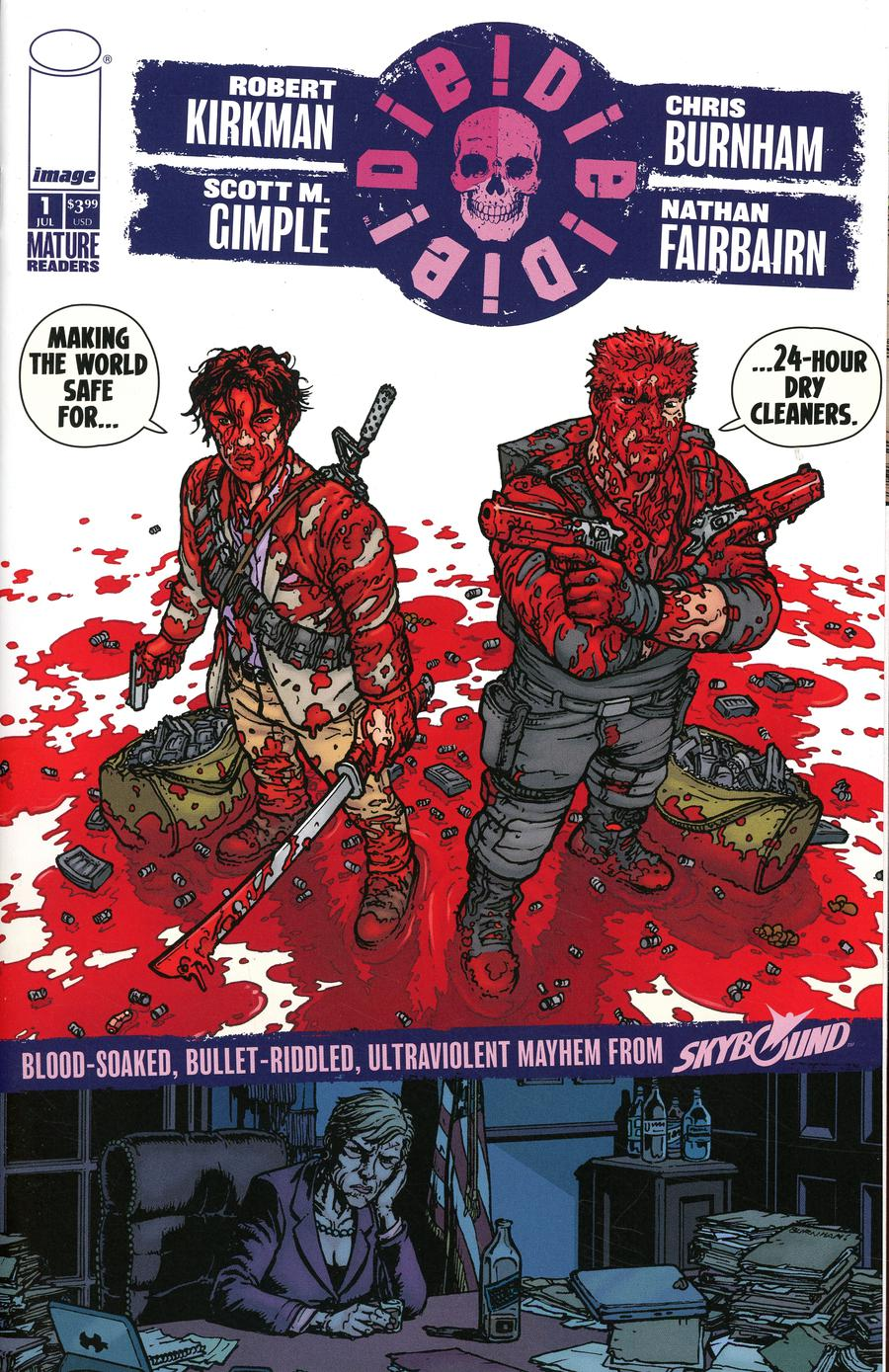Die Die Die #1 Cover B Chris Burnham & Nathan Fairbairn 24-Hour Dry Cleaners Cover
