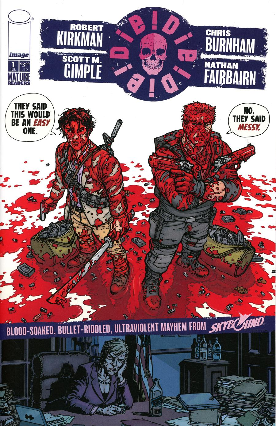 Die Die Die #1 Cover E Chris Burnham & Nathan Fairbairn Messy Cover