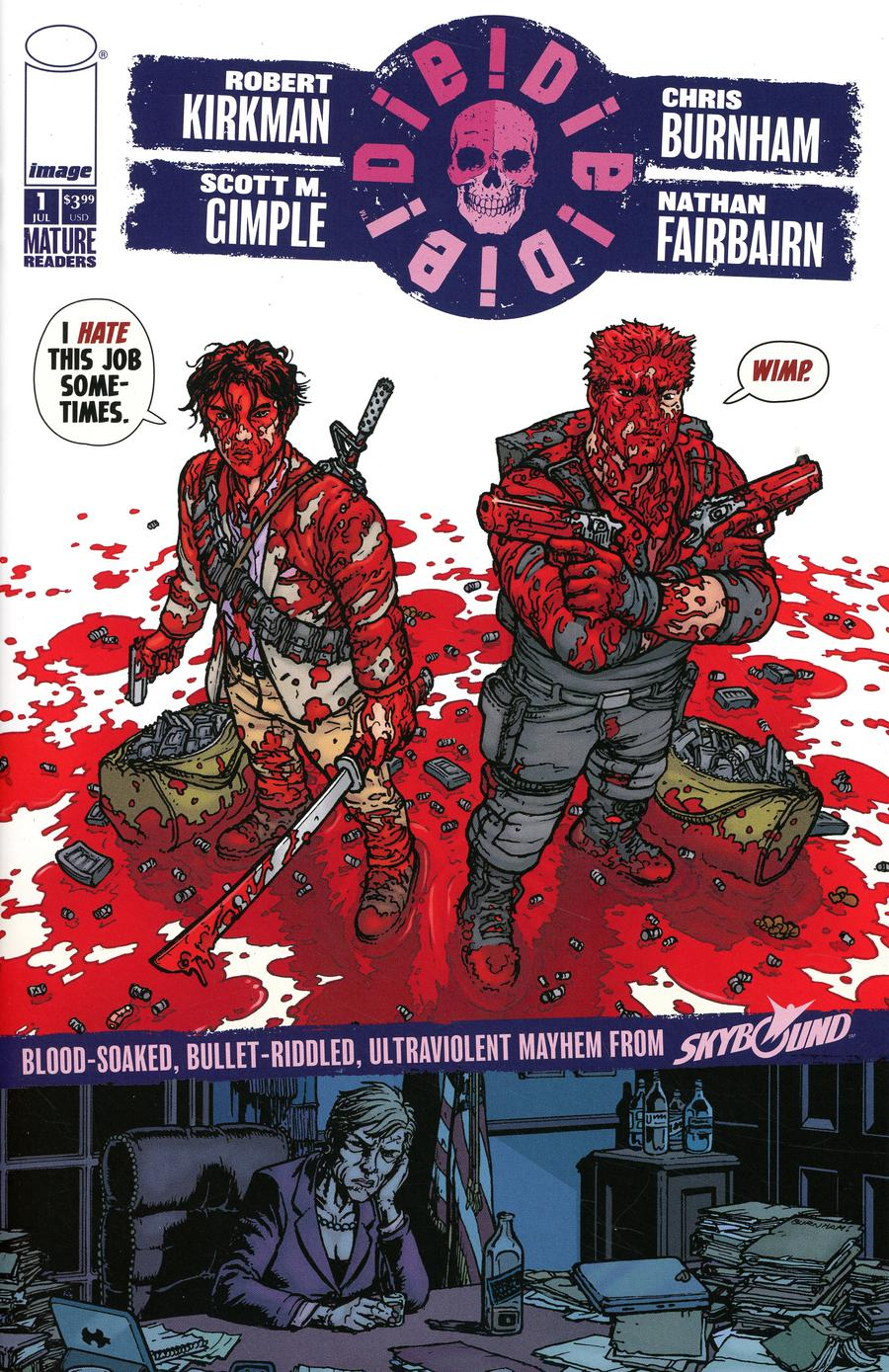 Die Die Die #1 Cover I Chris Burnham & Nathan Fairbairn Wimp Cover