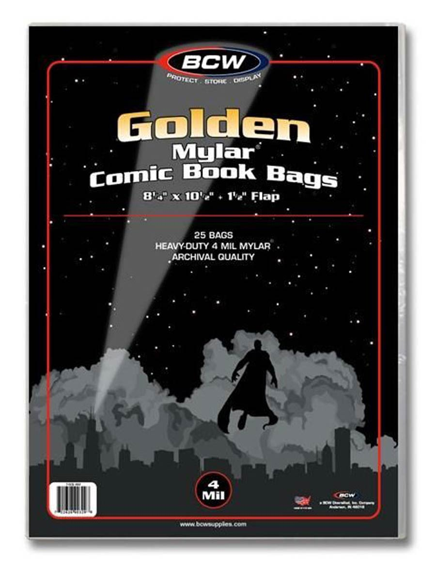 Golden Age Size 4mm Comic Mylar Sleeves 25-Pack