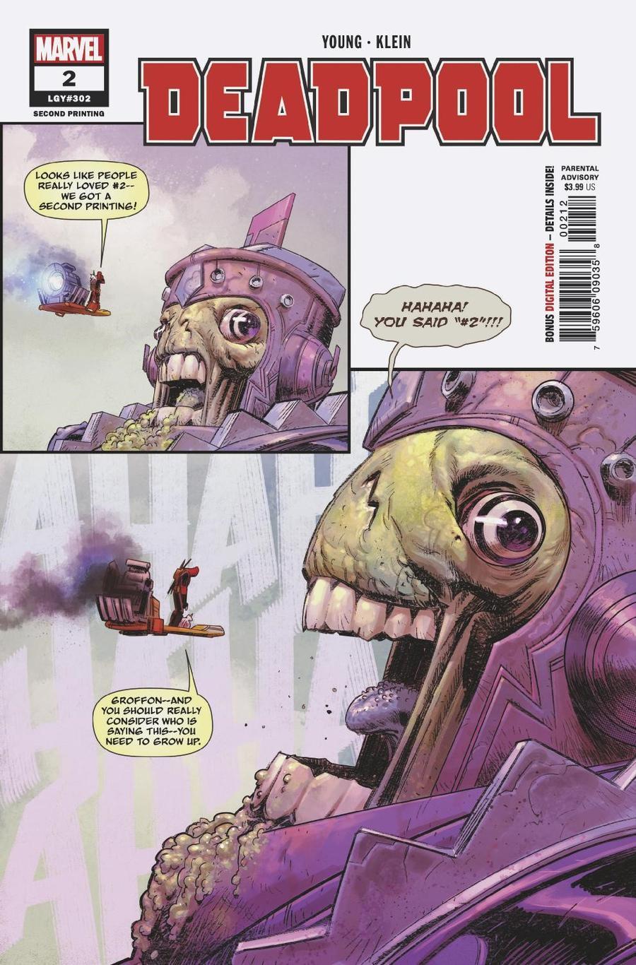 Deadpool Vol 6 #2 Cover C 2nd Ptg Variant Nic Klein Cover