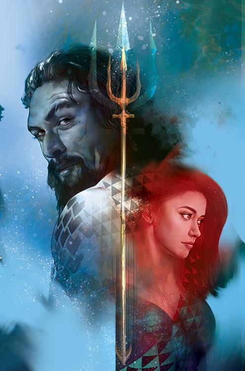 Aquaman Vol 6 #42 Cover B Variant Ben Oliver Aquaman Movie Cover (Drowned Earth Tie-In)