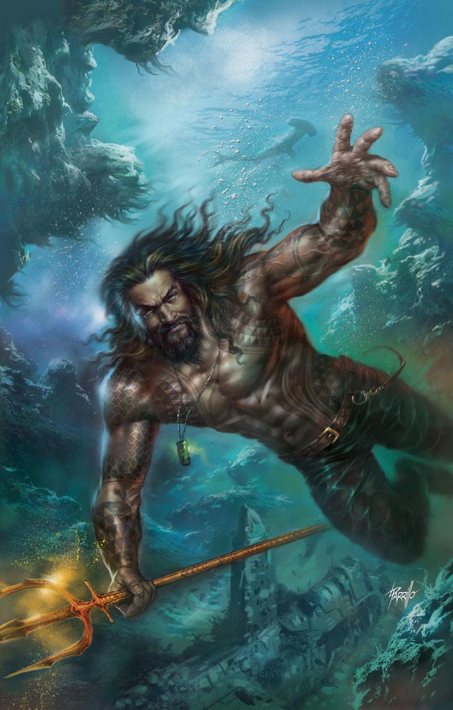 Justice League Vol 4 #12 Cover B Variant Lucio Parrillo Aquaman Movie Cover (Drowned Earth Part 3)