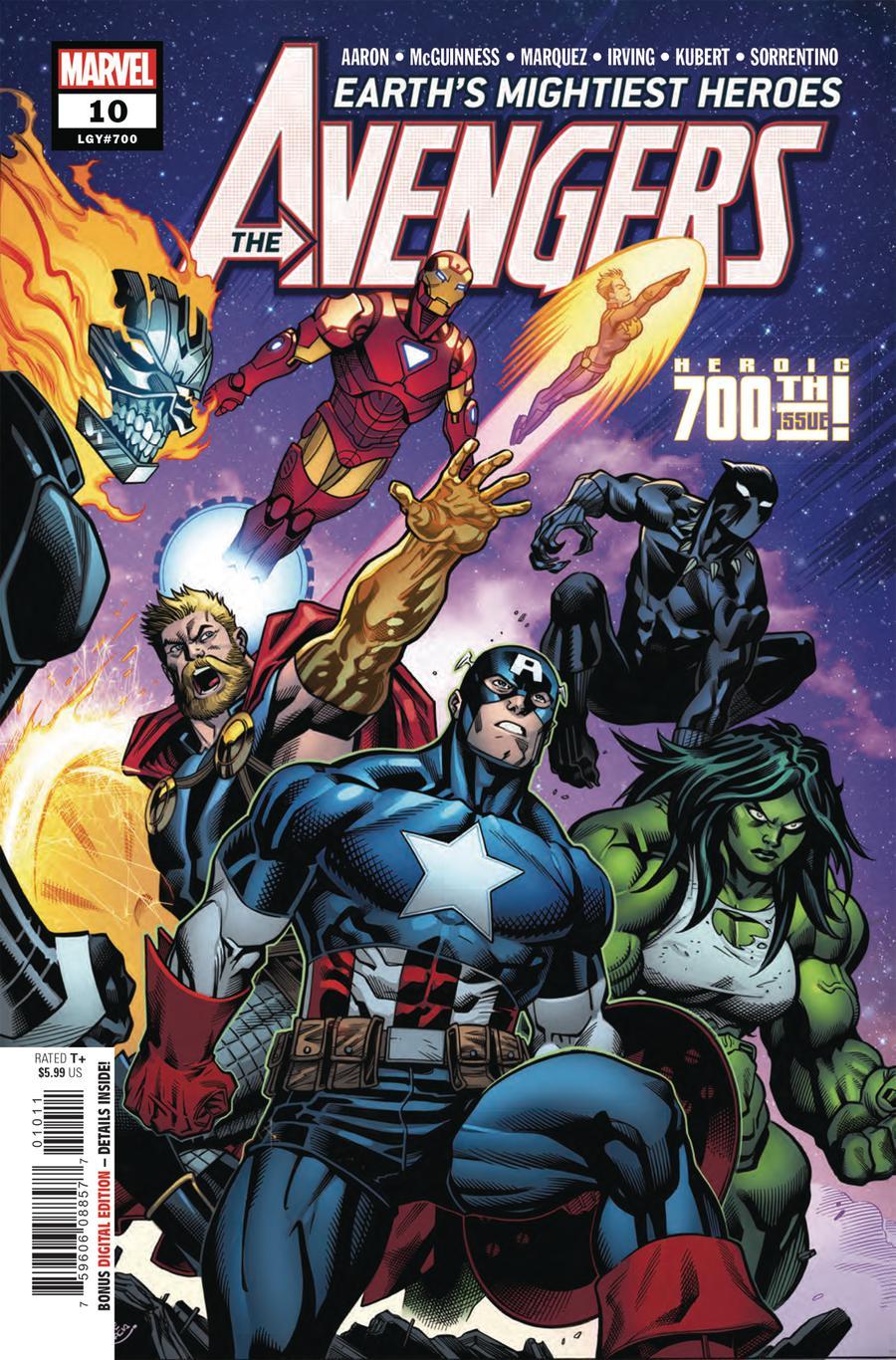 Avengers Vol 7 #10 Cover A 1st Ptg Regular Ed McGuinness Cover (#700)