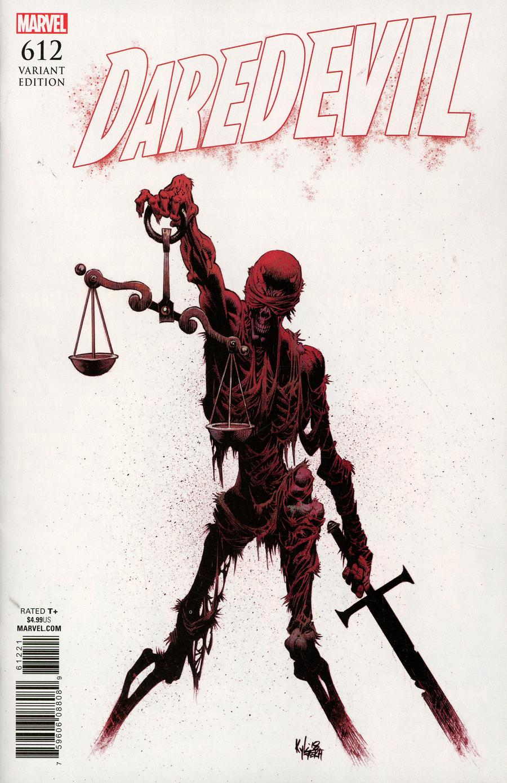Daredevil Vol 5 #612 Cover B Variant Kyle Hotz Cover