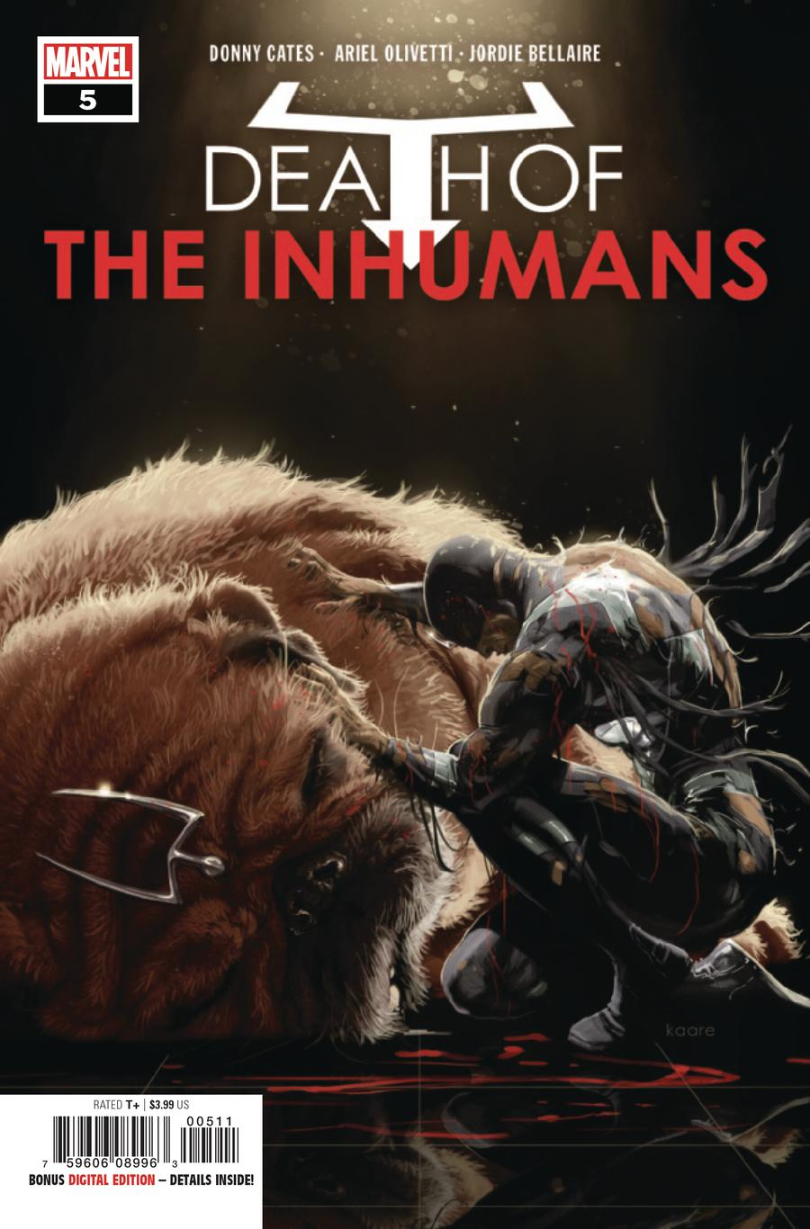 Death Of The Inhumans #5 Cover A Regular Kaare Andrews Cover