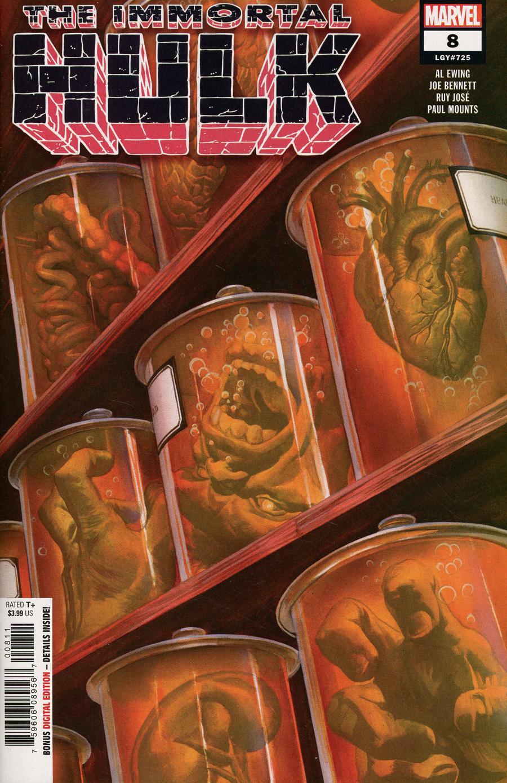 Immortal Hulk #8 Cover A 1st Ptg Regular Alex Ross Cover