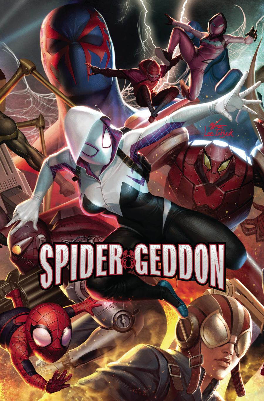 Spider-Geddon #3 Cover B Variant In-Hyuk Lee Connecting Cover (3 Of 5)