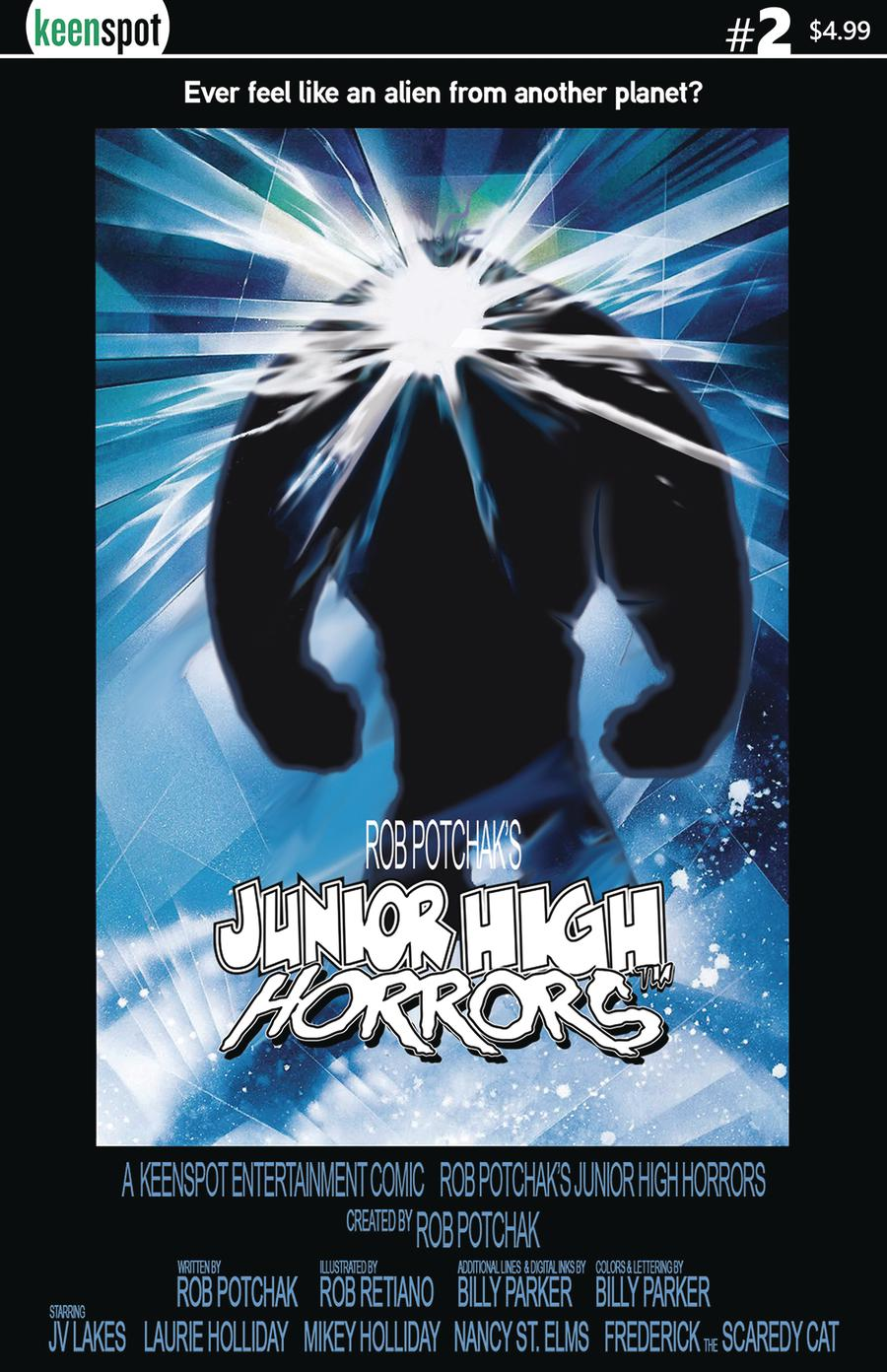 Junior High Horrors #2 Cover B Variant The Thing Parody Cover