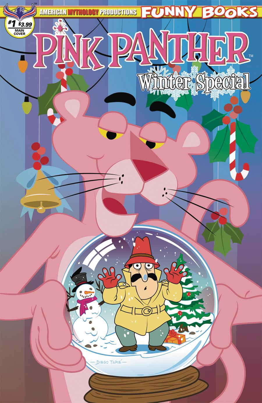 Pink Panther Pink Winter Special #1 Cover A Regular Diego Tapie Cover