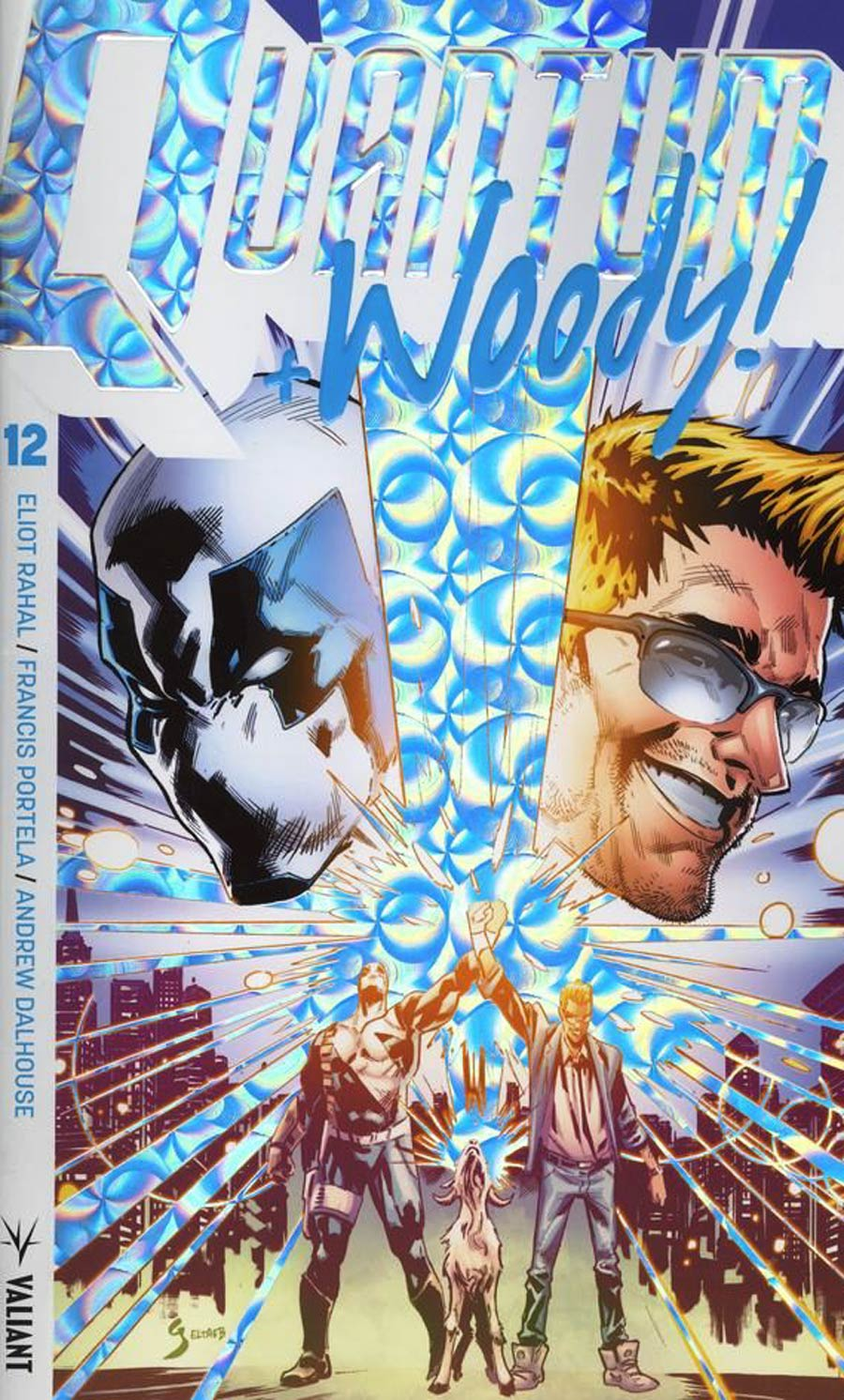 Quantum & Woody Vol 4 #12 Cover B Variant Geoff Shaw Extreme Ultra-Foil Cover