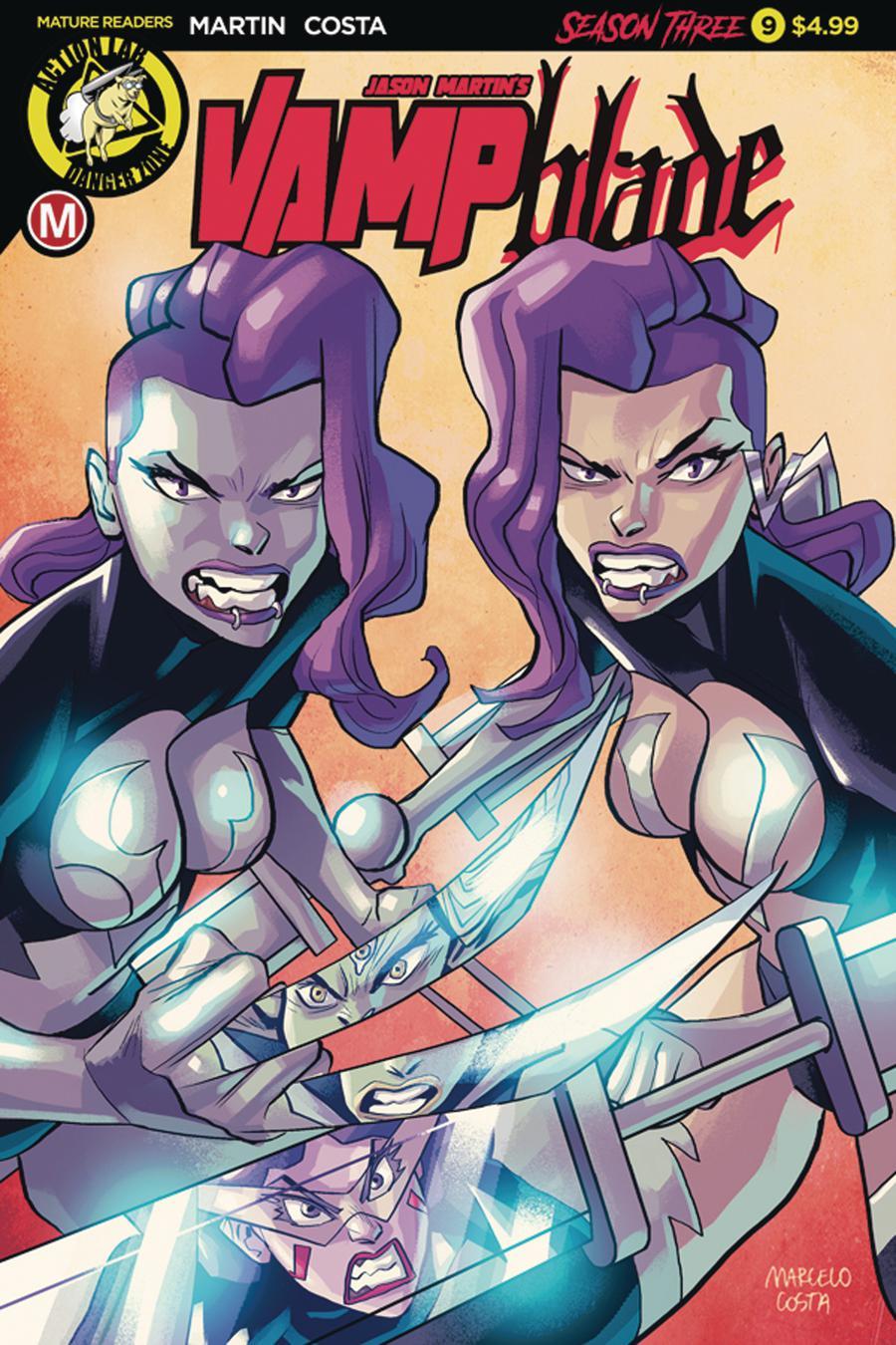 Vampblade Season 3 #9 Cover A Regular Marcelo Costa Cover