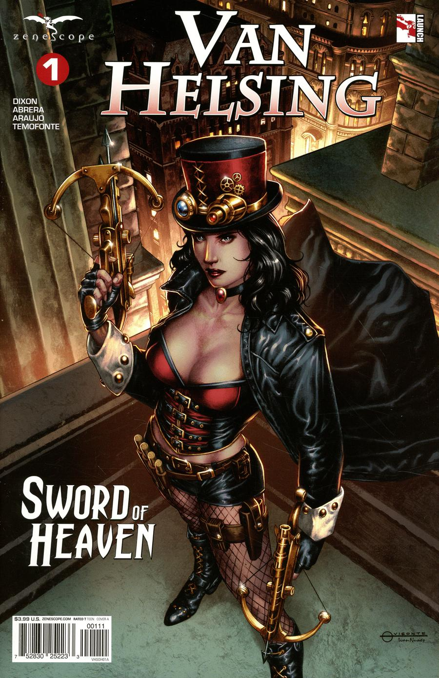 Grimm Fairy Tales Presents Van Helsing Sword Of Heaven #1 Cover A Geebo Vigonte