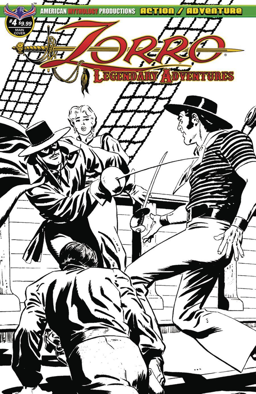 Zorro Legendary Adventures #4 Cover B Variant Francisco Cueto Blazing Blades Of Zorro Limited Edition Cover