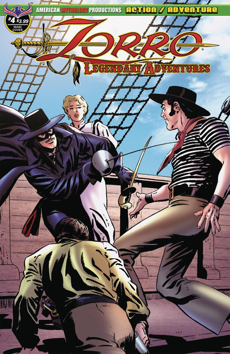 Zorro Legendary Adventures #4 Cover A Regular Francisco Cueto Cover