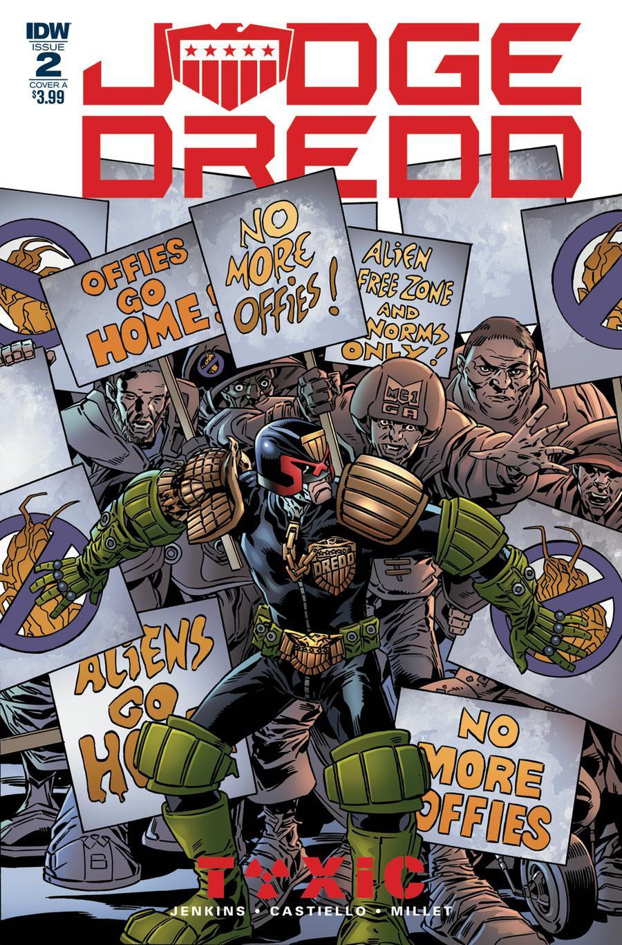 Judge Dredd Toxic #2 Cover A Regular Mark Buckingham Cover