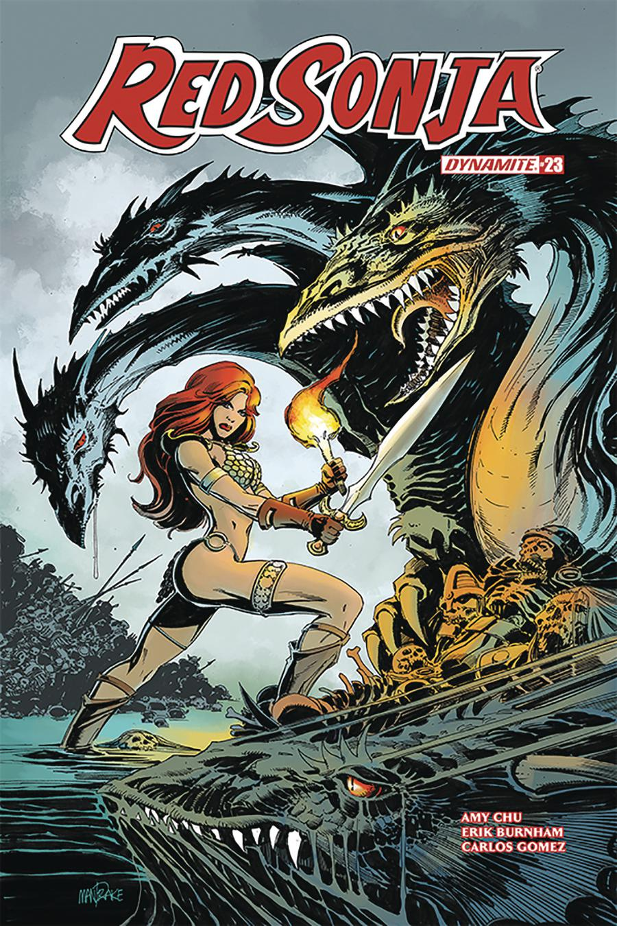 Red Sonja Vol 7 #23 Cover C Variant Tom Mandrake Cover