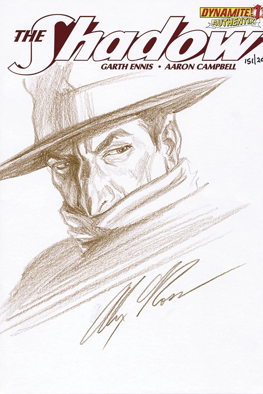 Shadow Vol 5 #1 Cover Z-G Remarked By Alex Ross