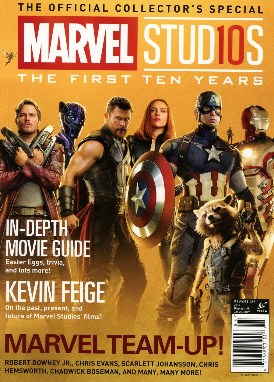 Marvel Studios The First Ten Years The Official Movie Collectors Special Newsstand Edition