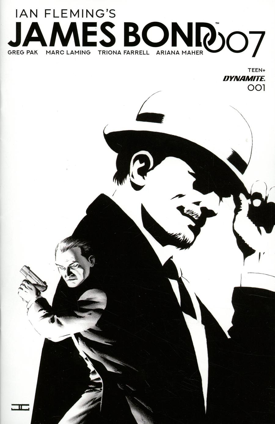 James Bond 007 #1 Cover F Incentive John Cassaday Black & White Cover