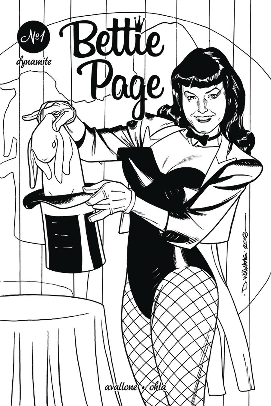 Bettie Page Vol 2 #1 Cover H Incentive David Williams Black & White Cover